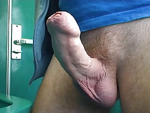 Hot male jerks in toilet - gay fetish tube