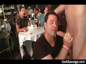 Horny guys go crazy on a cock